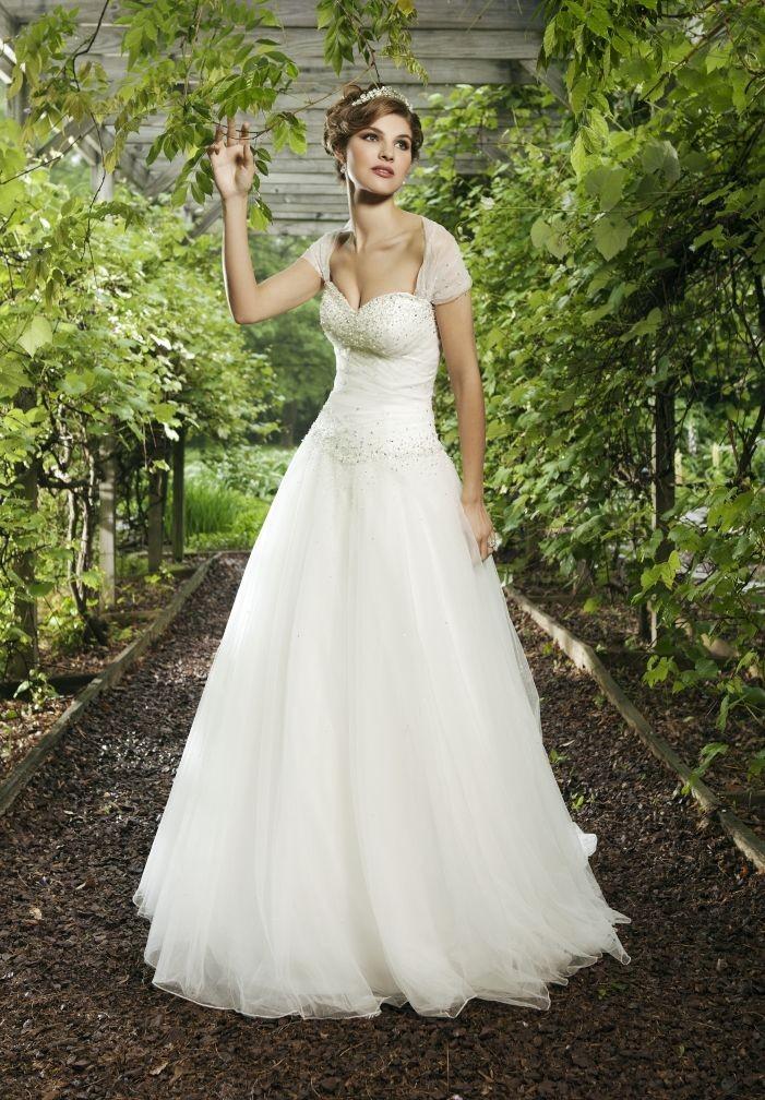 e340696462a6 Tulle Sweetheart A-Line Elegant Wedding Dress