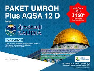 Paket Umroh Plus Aqso Januari 2018