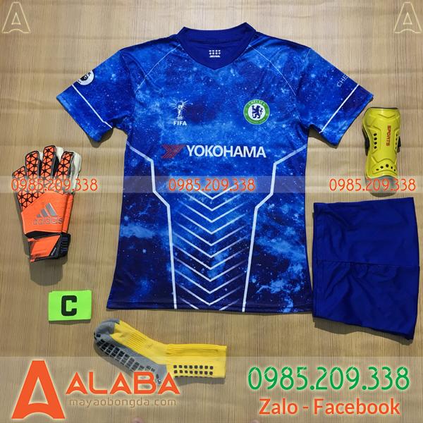 Áo Chelsea 2020 Training 4 Màu Xanh