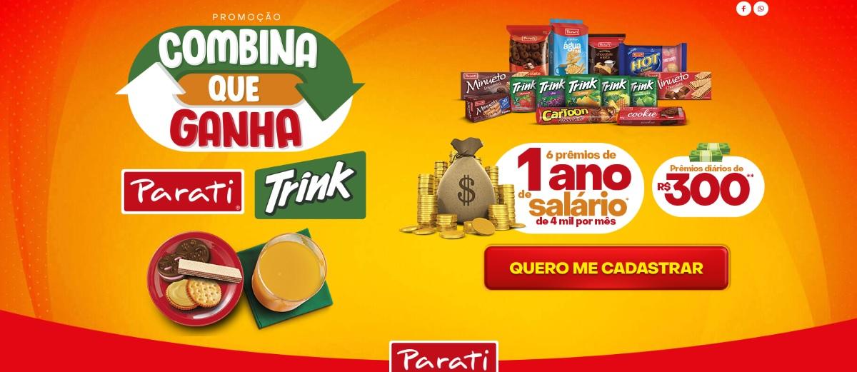 Participar Promoção Combina Que Ganha Trink e Parati - 4 Mil Reais Por Mês