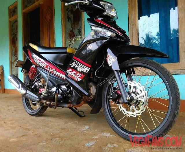 Vega ZR Modif Simple Hitam Spark