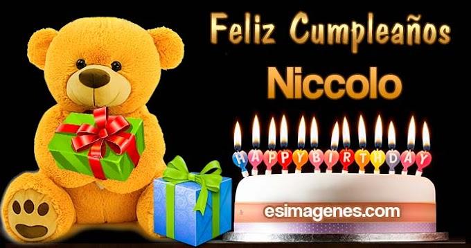 Feliz Cumpleaños Niccolo