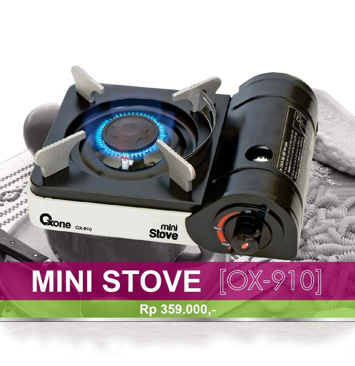 Ox 910 Mini Gas Stove Oxone Kompor Putih
