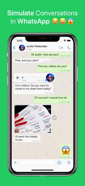 fake whatsapp group chat
