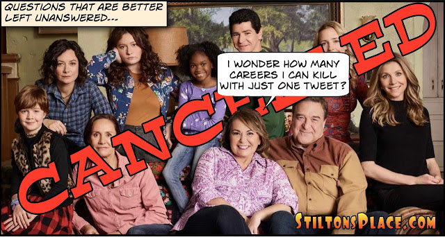 stilton's place, stilton, political, humor, conservative, cartoons, jokes, hope n' change, roseanne, cancelled, valerie jarrett