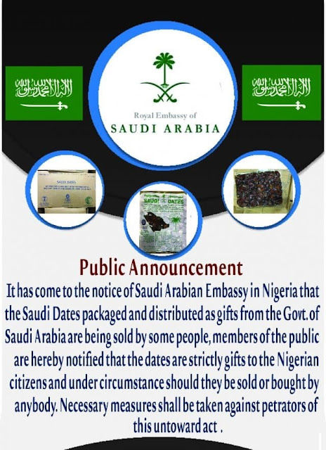 Saudi Arabia Raises Alarm over Sale of Free Fruits Meant for IDPs in Nigerian Markets