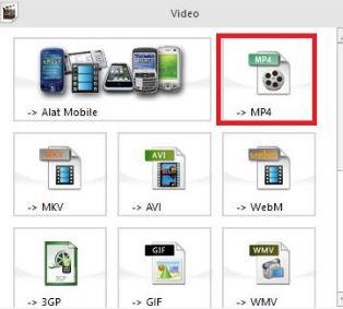 cara convert file audio video offline menggunakan format factory - pilih mp4