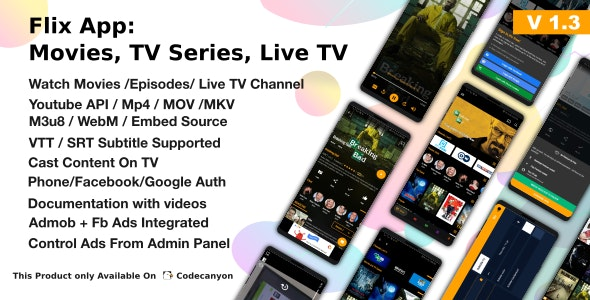 Download Flix App v1.3 - Movies - TV Series - Live TV Channels - TV Cast