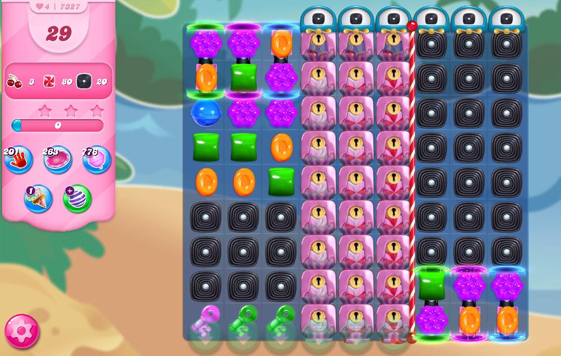 Candy Crush Saga level 7327