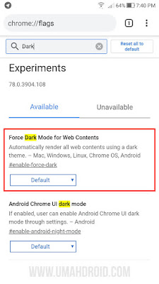 Enable Dark Mode for Web Content Chrome