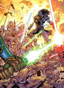 Jelenet a Jedi kontra sith képregényből
