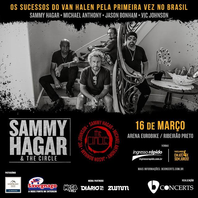 """SHOW """"SAMMY HAGAR & THE CIRCLE"""" EM RIBEIRÃO PRETO, SHOW ARENA EUROBIKE 2020, EUROBIKE RIBEIRÃO PRETO, SHOWS DE ROCK EM RIBEIRÃO PRETO, ROCK EM RIBEIRÃO PRETO 2020"""