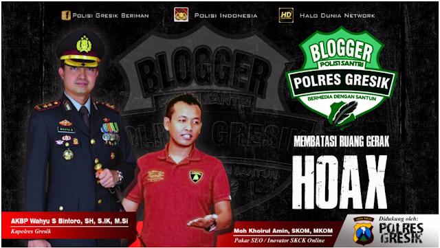 Blogger Polres Gresik Anti Hoax