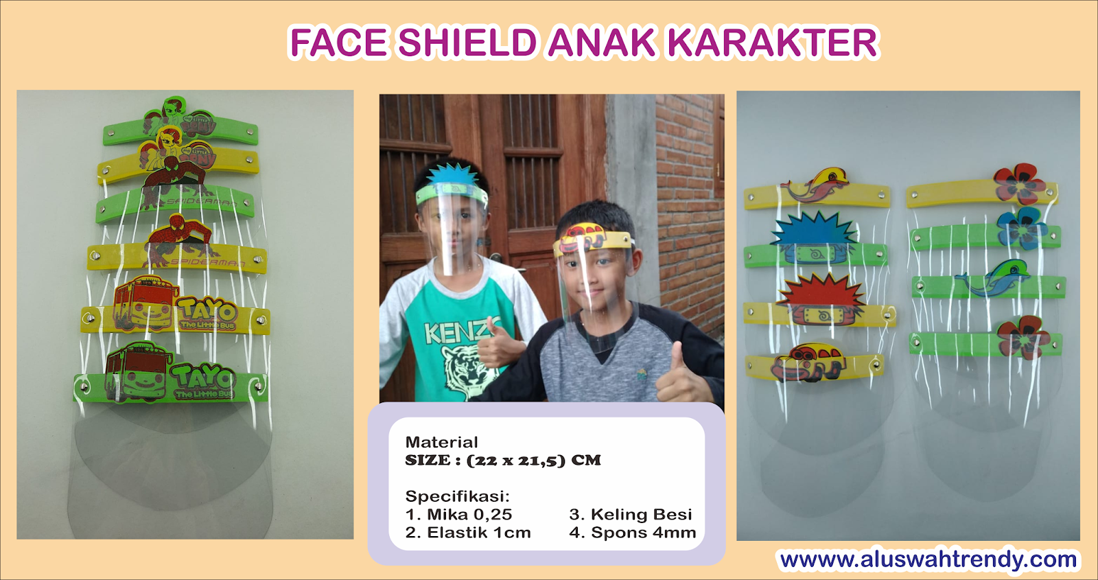 Face Shield Anak Karakter