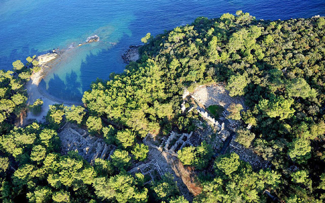 Ancient Phaselis is slowly submerging in Antalya