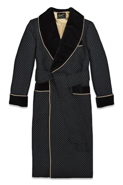 mens luxury velvet dressing gown smoking jacket black silk