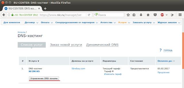 Услуга DNS-хостинг