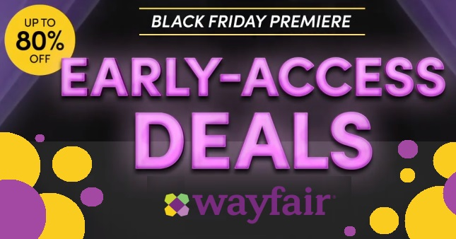 Black Friday Wayfair Deals Start Now