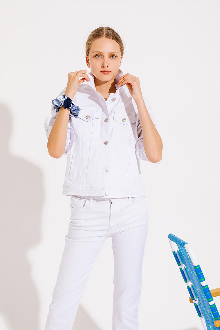 Camperas de jeans 2020 blanco de mujer.