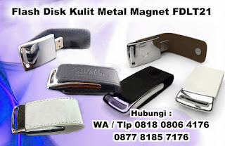 Magnetic Leather USB Flashdisk FDLT 21, Usb Kulit Promosi FDLT21, USB Kulit FDLT21