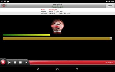 تحميل أخر إصدار تطبيق WavePad Free Audio يمكن لك اخد الصوت و الاقاعات من الأغنية المفضلة عندك الأندرويد و الايفون