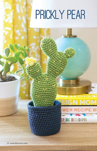 Crochet Prickly Pair Cactus Pattern Southwest garden patterns