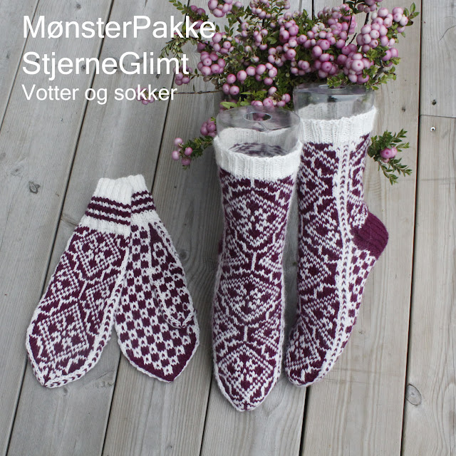 MønsterPakke: StjerneGlimt - votter og sokker