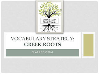 Vocabulary Strategy: Greek Roots - Examples and Worksheet