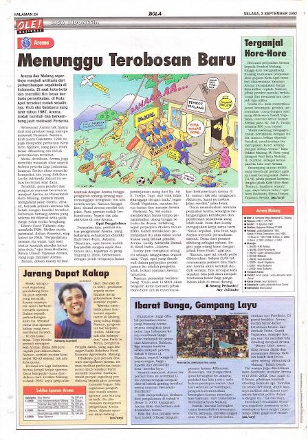 LIGA INDONESIA: AREMA MENUNGGU TEROBOSAN BARU