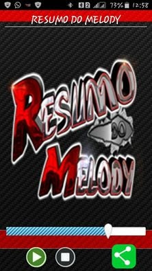 App resumo do melody