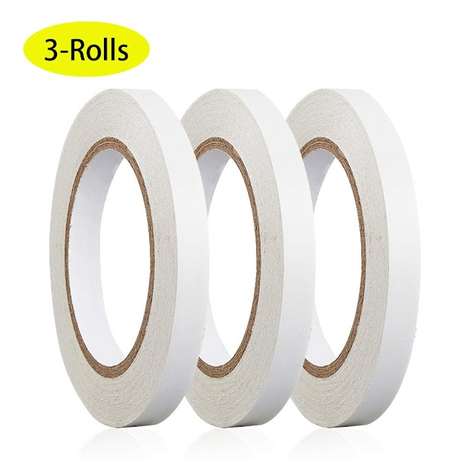AMAZON - 3 Rolls 10-MM by 30-Yards Double Sided Adhesive Tape