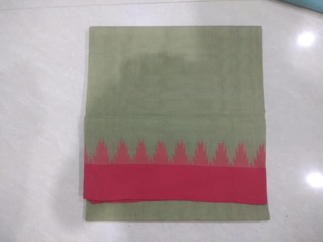 Plain Ponduru Khadi saree