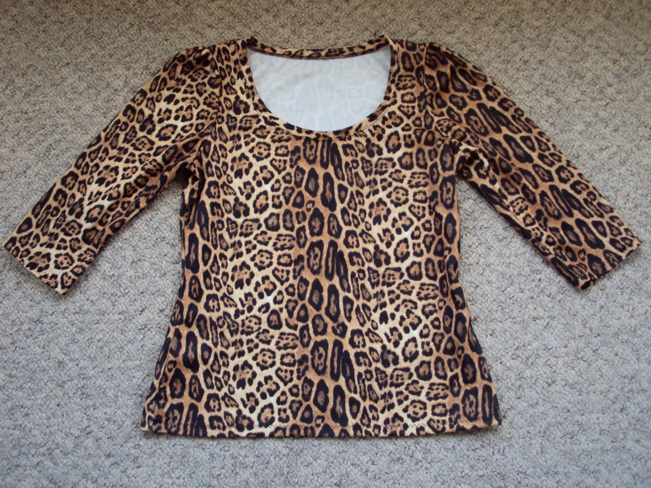 06ab02aa6 This creation used the stretchier of the jerseys. It was donated, along  with a ton of other less appealing animal printed sample fabric, to the  charity I ...
