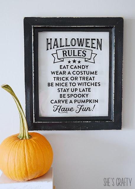 Halloween rules wall art