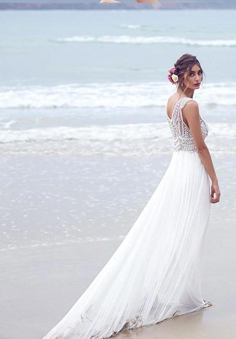 Para una matrimonio en la playa el vestido