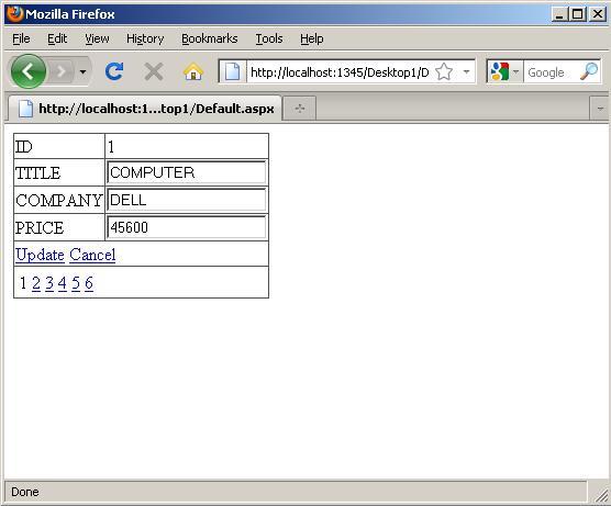 DetailsView Control in ASP NET - Part 6