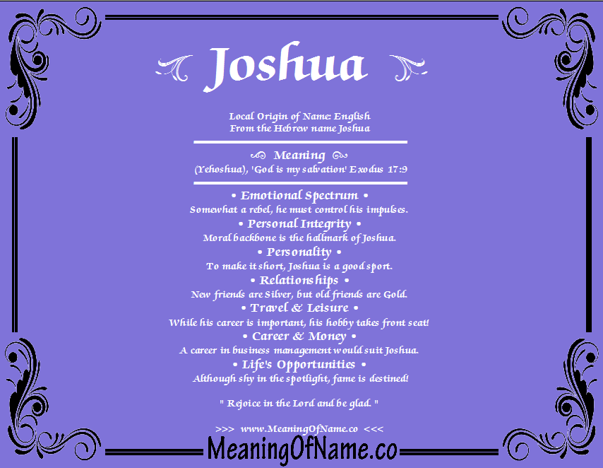 Joshua - Meaning of Name