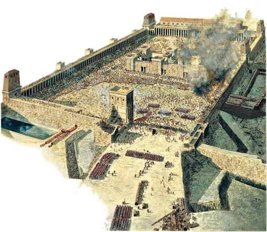 Ataque a Jerusalén. Saqueo del Templo. Tito. Vespasiano.