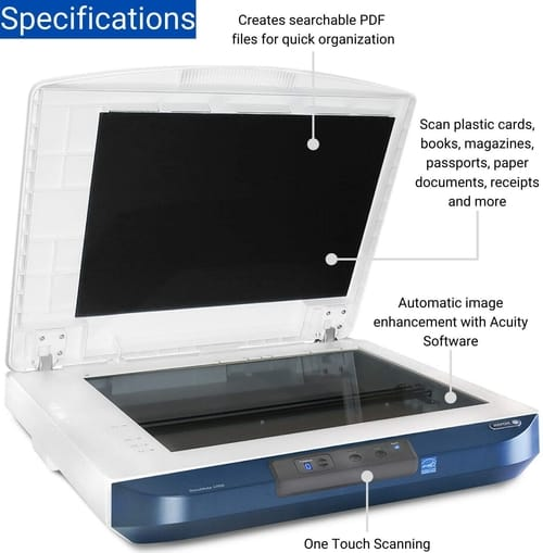 Review Xerox DocuMate 4700 Color Flatbed Scanner