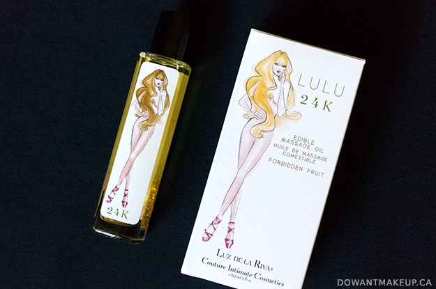 Luz de la Riva Lulu 24K edible massage oil review