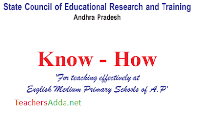 "SCERT - AP- ""Know- How "" Inner Hand Book for Five Days English Primary Teachers Training"