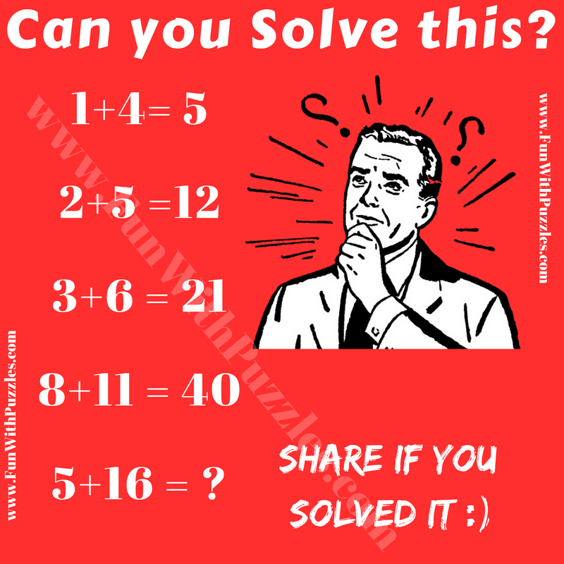 math problems to solve for fun