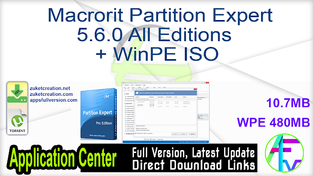 Macrorit Partition Expert 5.6.0 All Editions + WinPE ISO