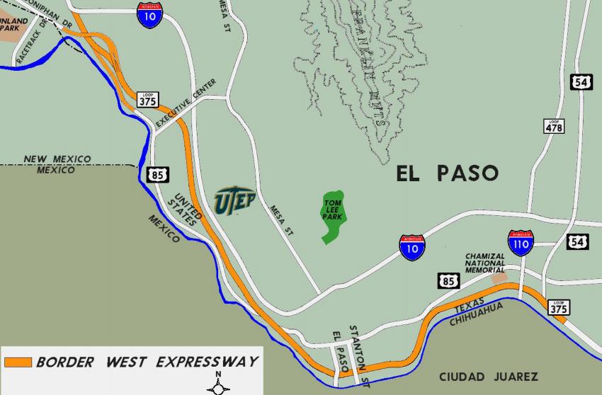 El Paso Development News Loop Extension Now Called Border - Us 54 el paso map