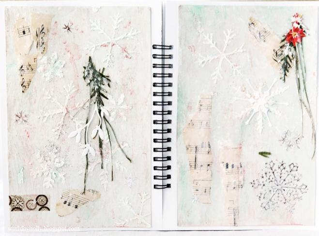 art journal świąteczny