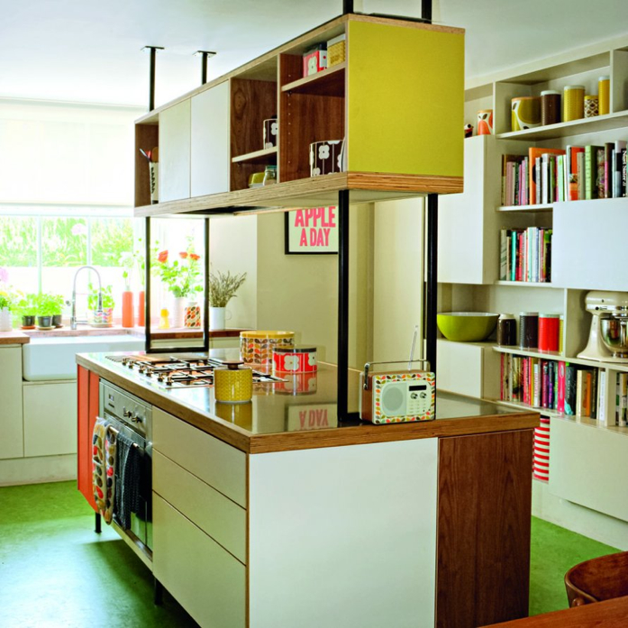 Orla Kiely's  kitchen