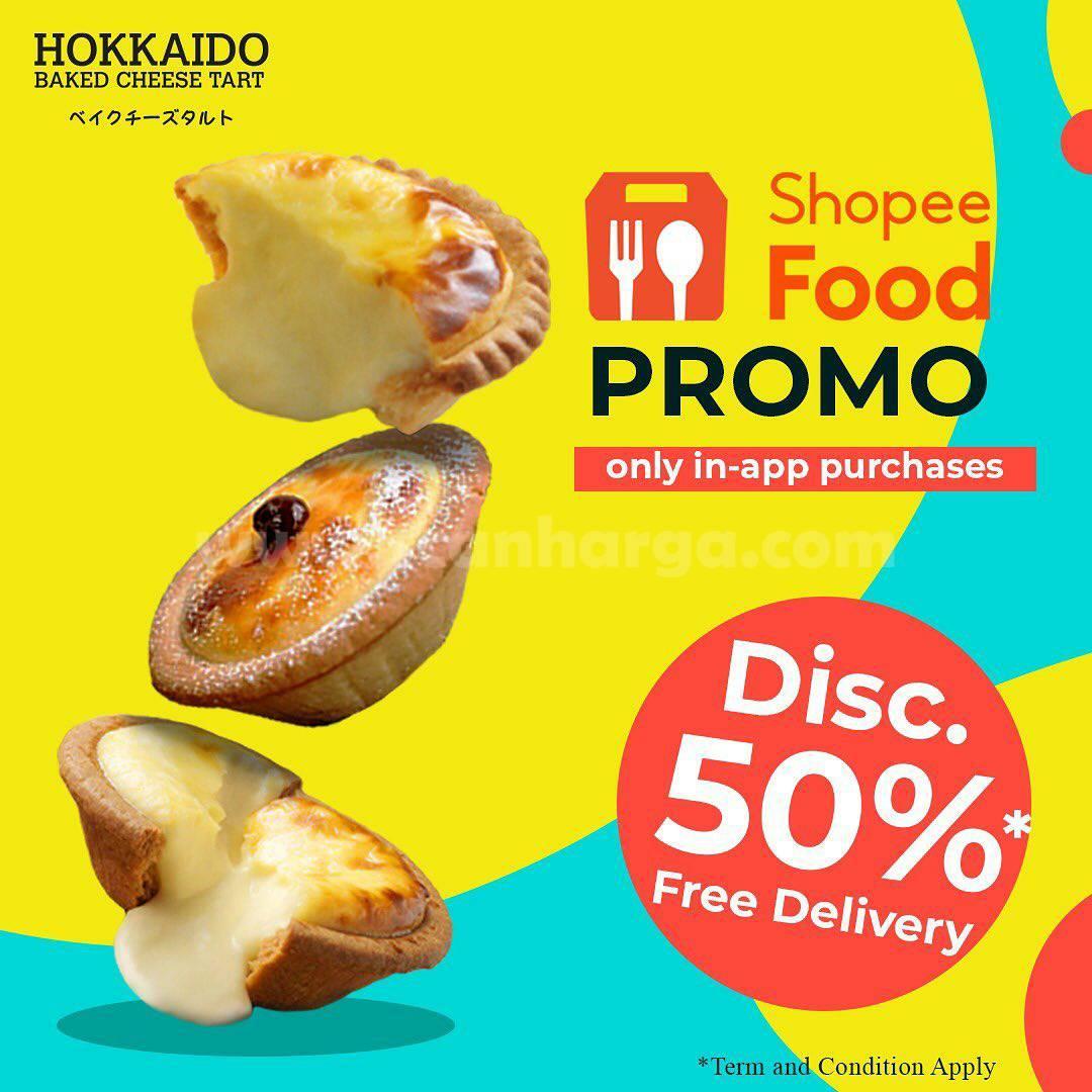 HOKKAIDO Promo DISKON 50% + GRATIS ONGKIR via SHOPEE FOOD