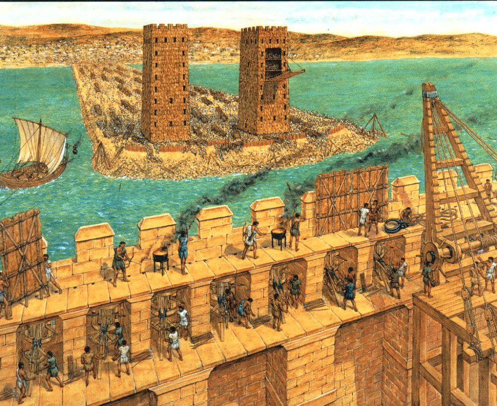 The Siege of Tyre. Illustration by Duncan B. Campbell