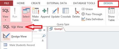 Click SQL view