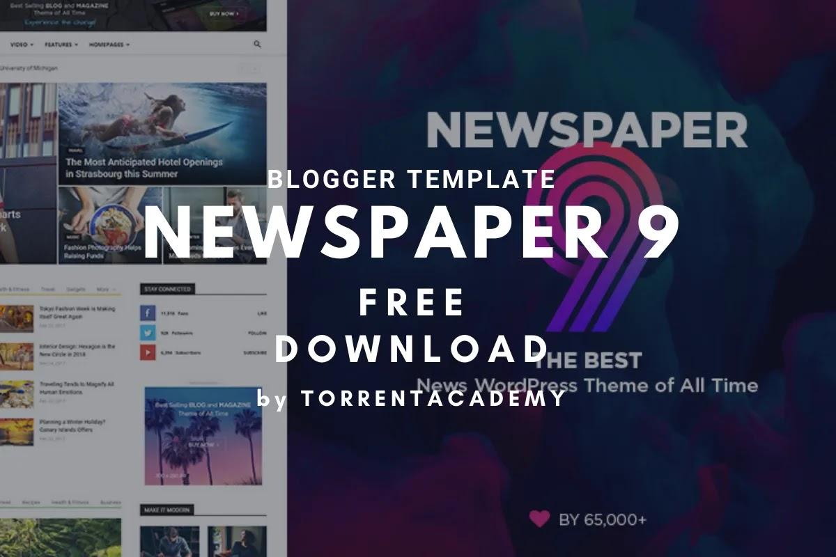 Newspaper 9 premium blogger template home apge